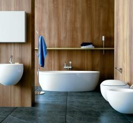 3d vizualizácia kúpelne s WC, použitá sanita Laufen.