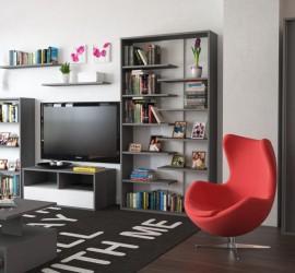 3d vizualizácia interiéru obývacej izby. Nábytková zostava Mersie - obývačka.