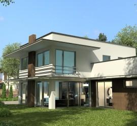 3d vizualizácie rodinného domu pre potreby zákazníka.