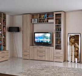 3d vizualizácia nábytku - obývacia stena - interiér.