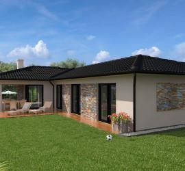 3d vizualizácia rodinného domu na zákazku investora.