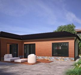 3d vizualizácia bungalovu / rodinného domu pre stavebnú firmu.