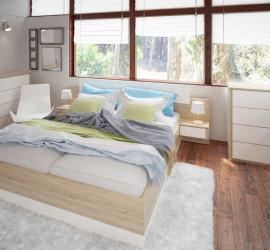 3d vizualizácia spálne pre výrobcu nábytku