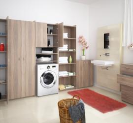 3d vizualizácia nábytkovej kúpeľnovej zostavy Natali