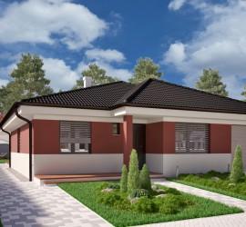 3d vizualizácia rodinného domu, bungalovu